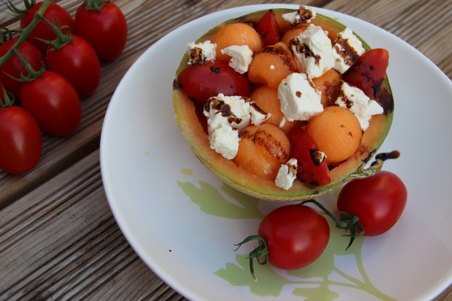 Salade de melon f ta et r duction de vinaigre balsamique sharing cuisine - Que faire en entree ...