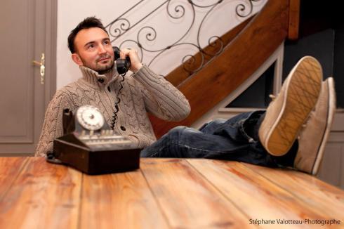 olivier téléphone maison !