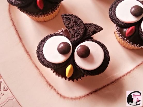 cupcake chocolat oréo chouette