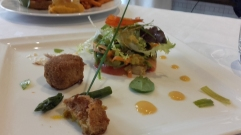 joa, salade de légumes croquants, cromesquis, institut paul bocuse