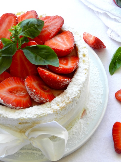 charlotte fraise basilic