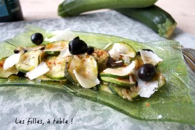 courgettes aux olives et parmesan