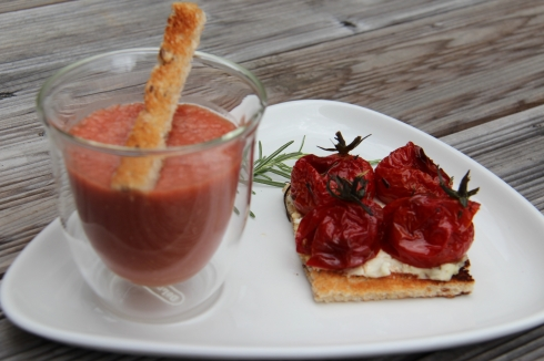 milkshake tomate, tomate confite, chèvre, sharing cuisine, blog lyon