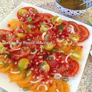 carpaccio de tomate à la grenade