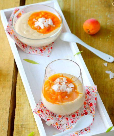 Crème-coco-abricots, verveine