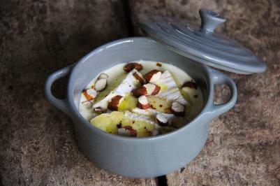 cocotte minute au camembert et amande, apéro, tapas, sharing cuisine, végétarien, blog cuisine lyon, blog culinaire lyon, recette rapide, recette express